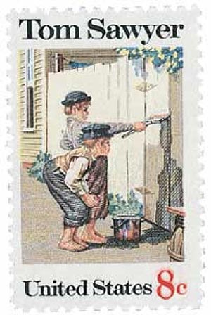 1972 8c Tom Sawyer