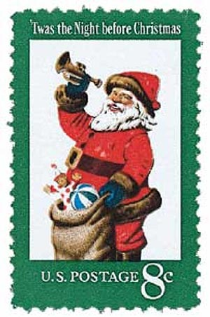 1972 8c Contemporary Christmas: Santa