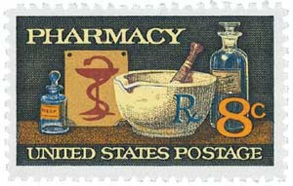 1972 8c Pharmacy