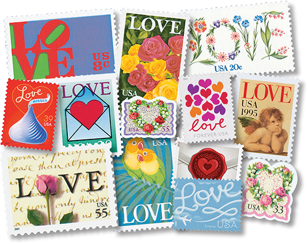 1973-2019 Love Series complete set of 63 stamps