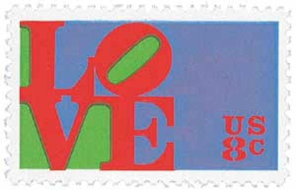 1973 8c Love Series: Red Love