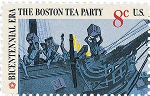 1973 8c Boston Tea Party: British Merchantman