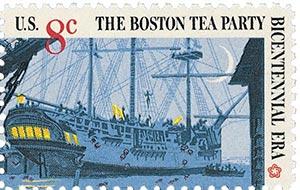 1973 8c Boston Tea Party: British Three-master