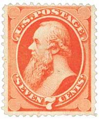 1871 7c Stanton, vermilion
