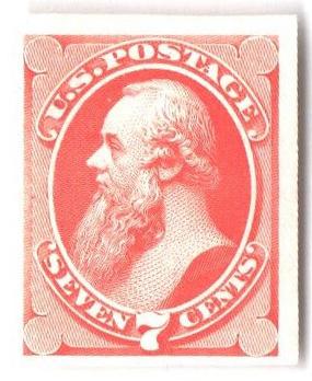 1870-71 7c vermilion, plate on India