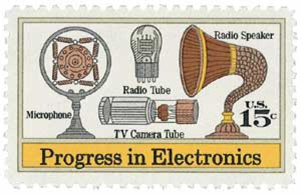 U.S. #1502 includes the T.V. camera tube invented by Vladimir Zworykin.