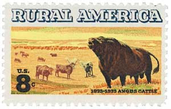 1973 8c Angus Cattle