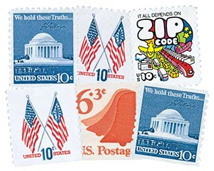 1973-74 Regular Issues set of 6 stamps