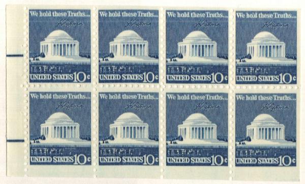 1973 10c Jefferson bklt pane (8)