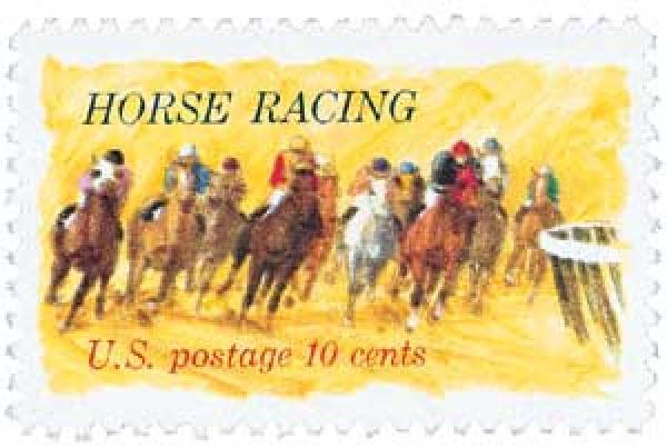 1974 10c Horse Racing