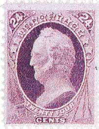 1870-71 24c General W. Scott, purple