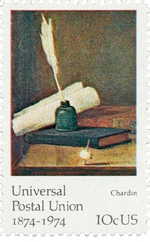 1974 10c Famous Works of Art: Chardin