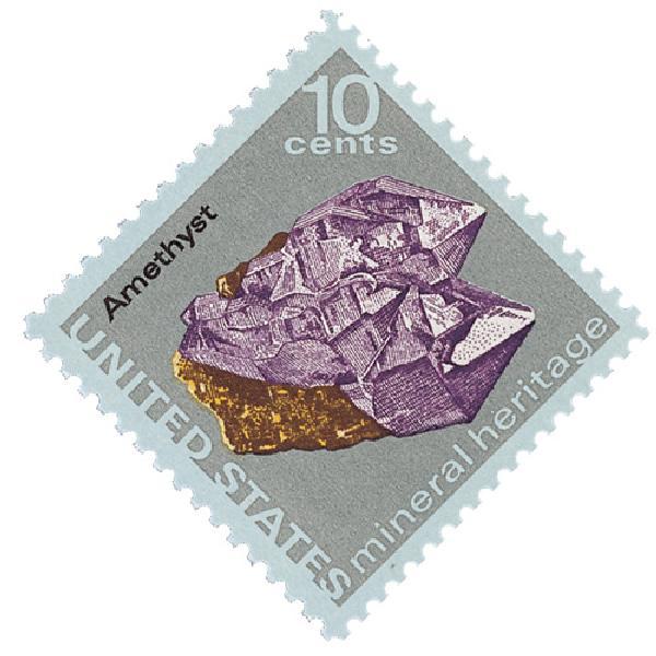 1974 10c Mineral Heritage: Amethyst