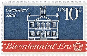 1974 10c First Continental Congress: Carpenters Hall