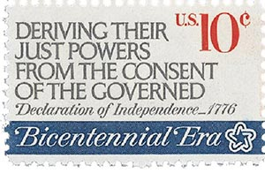 1974 10c First Continental Congress: Deriving Their Just Powwer
