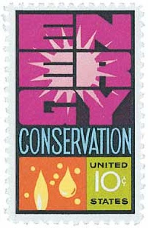 1974 Energy Conservation stamp