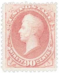 1870-71 90c Perry, carmine