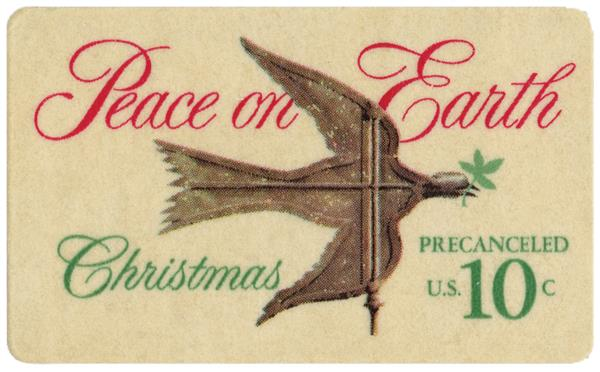1974 10c Traditional Christmas: Peace on Earth
