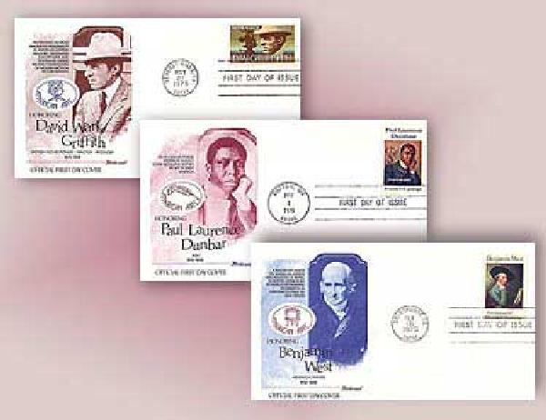 American Arts, 1975, Set of 3 FDC's
