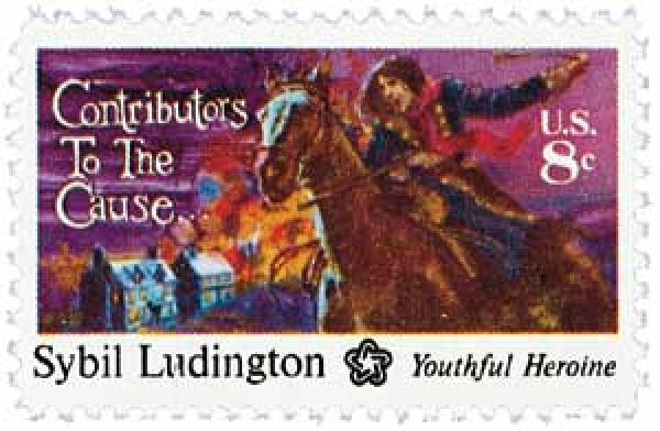 1975 8c Contributors to the Cause: Sybil Ludington