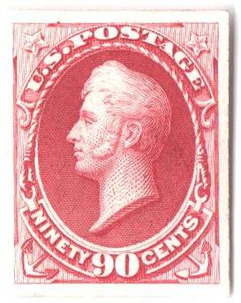 1870-71 90c carmine, plate on Indi