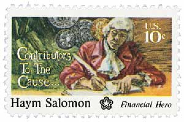 1975 10c Contributors to the Cause: Haym Salomon