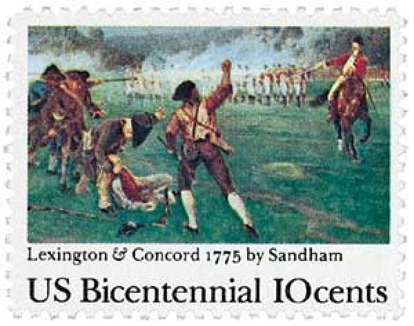 1975 10c Battle of Lexington and Concord