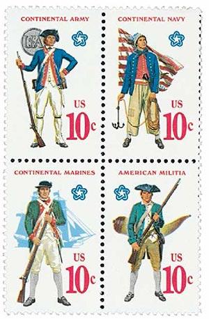 1975 10c U.S. Military Uniforms