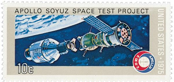 1975 10c Apollo-Soyuz Space Mission: Before Link-up