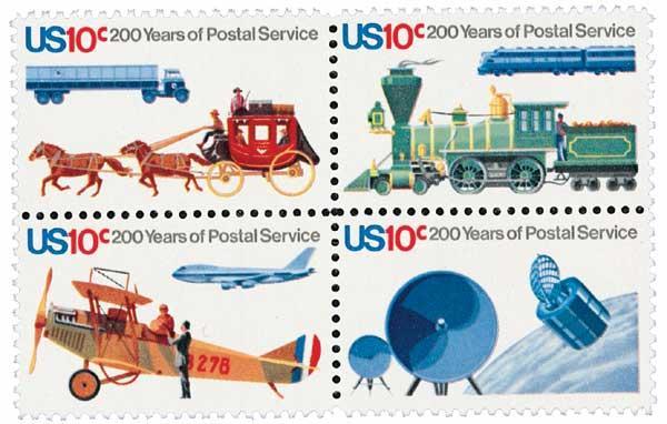 1975 10c U.S. Postal Service Bicentennial