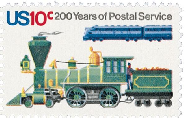 1975 10c U.S. Postal Services Bicentennial: Locomotives