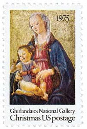 1975 10c Christmas Madonna and Child