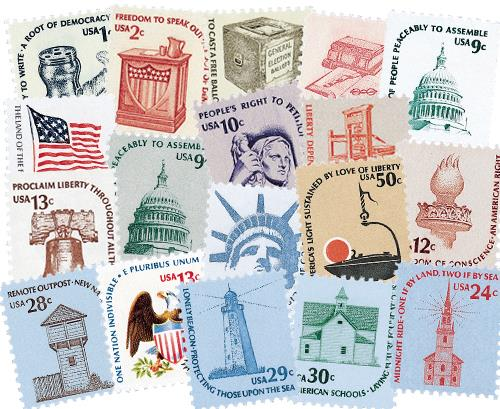 1975-81 Americana Series set of 19 stamps