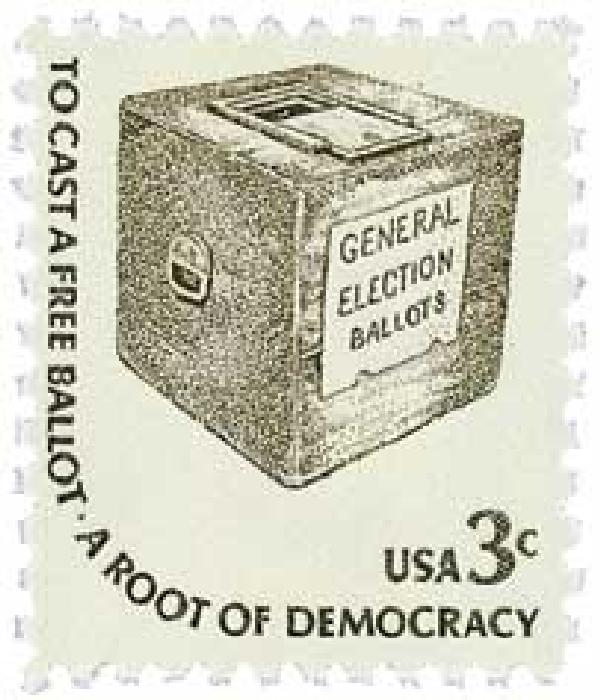1977 3c Americana Series: Early Ballot Box