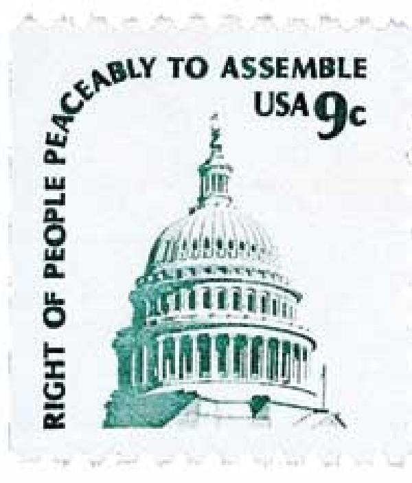 1975-81 9c Americana Series: Capitol Dome, booklet single