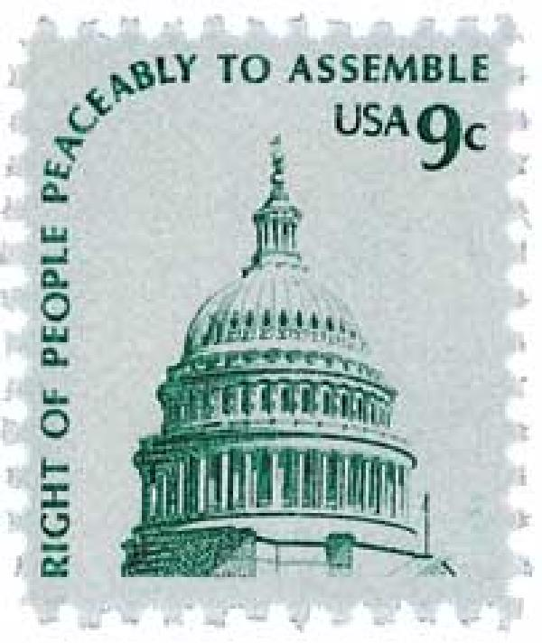 1975 9c Dome of Capitol, gray, single