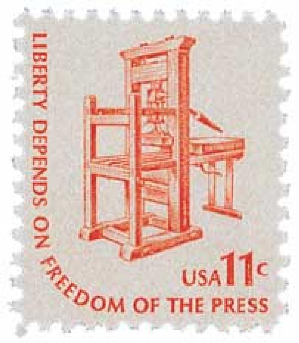 1975-81 11c Americana Series: Printing Press