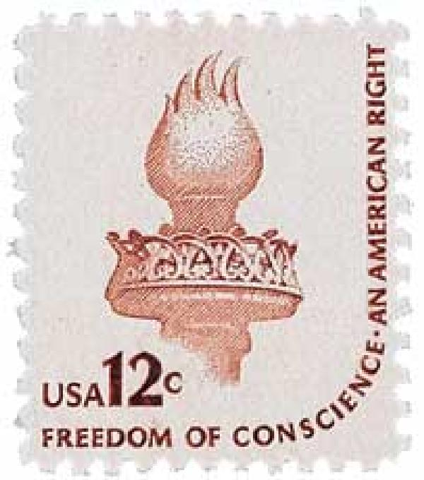 1975-81 12c Statue of Liberty Torch,sngl