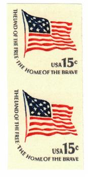 1978 Fort McHenry Flag imperf pair