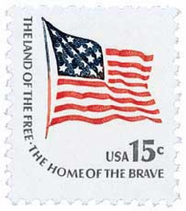 1978 15c Fort McHenry Flag from booklet