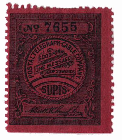 1900 black, Official inscribed 'Supts.'