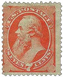 1873 7c Stanton, orange vermilion