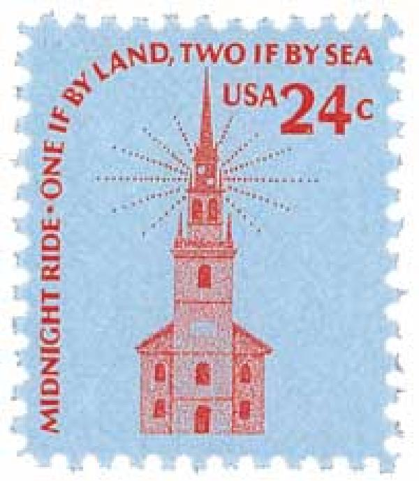 1975 24c Americana Series: Old North Church