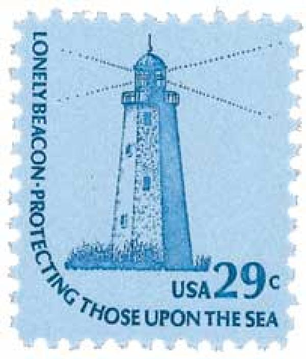 1978 29c SandyHook Lighthouse, Americana