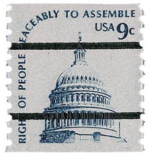 1976 9c Capitol Dome, coil, precancel