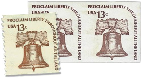 1975-79 Liberty Bell Imperf pair & norm