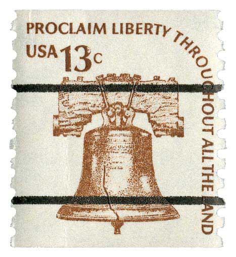 1975 13c Liberty Bell, coil, precancel