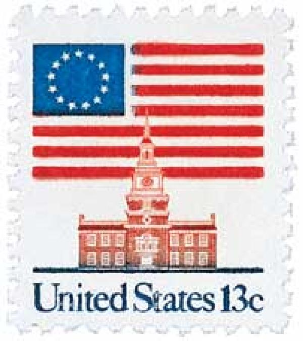 1981 13c Flag over Independence Hall