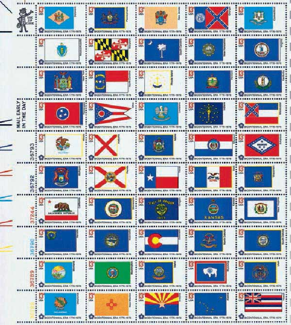 1976 13c State Flags