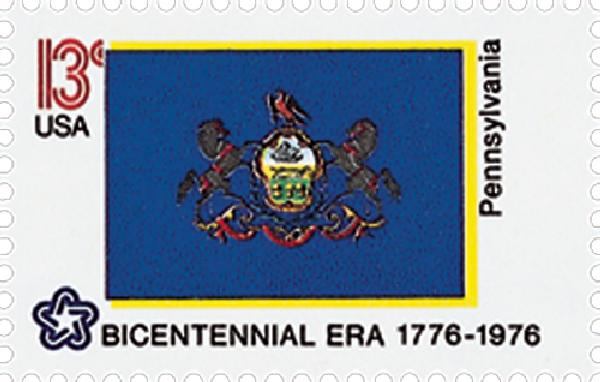 1976 13c State Flags: Pennsylvania